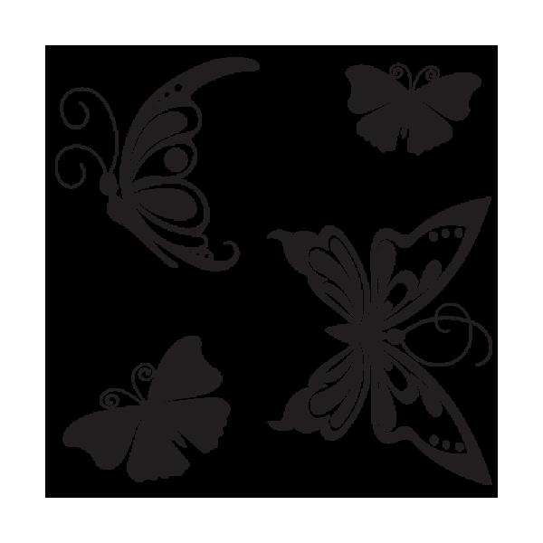 Mariposas en vinilos adhesivos de pared for Vinilos decorativos mariposas