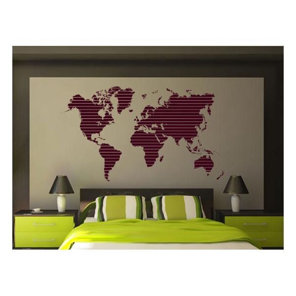 Vinilo de mapa del mundo adhesivos decorativos for Vinilo mapa del mundo