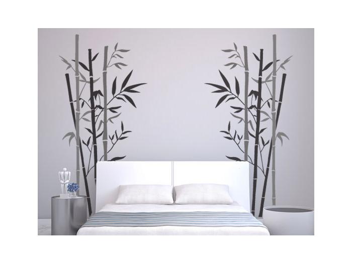 Adhesivos florales vinilos decorativos para dormitoriosbambu for Vinilos pared dormitorio