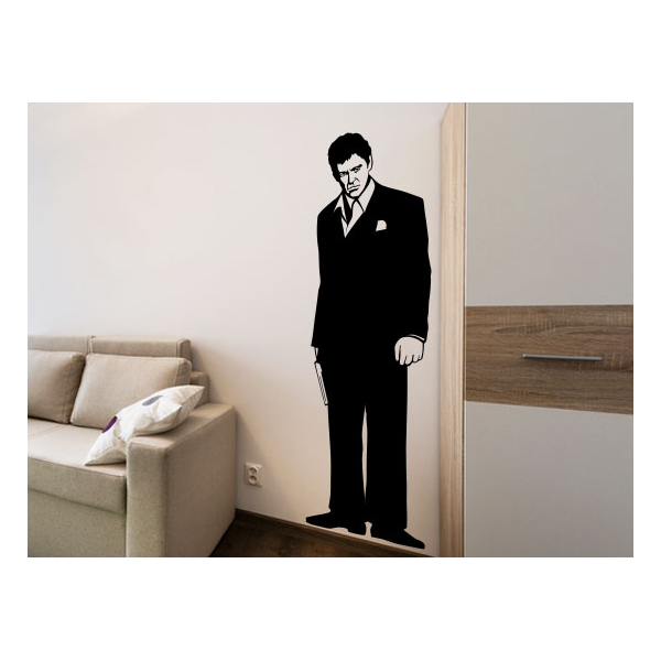 life size wall stickers movies decals scarface
