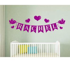 Vinilos decorativos bebes nombres - Vinilo nombre bebe ...