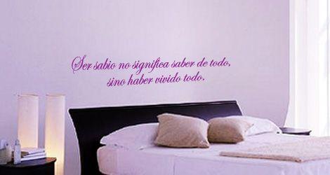 Textos y r tulos personalizados pegatinas de paredes puertas veh culos vinilo y decoracion - Frases para vinilos habitacion ...