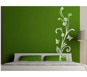 Vinilos decorativos florales de pared vinilo y decoracion for Adhesivos pared dormitorio