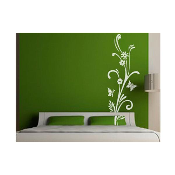 Vinilos adhesivos de flores y mariposas for Adhesivos pared dormitorio