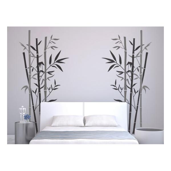 Adhesivos florales vinilos decorativos para dormitoriosbambu for Pegatinas vinilo pared