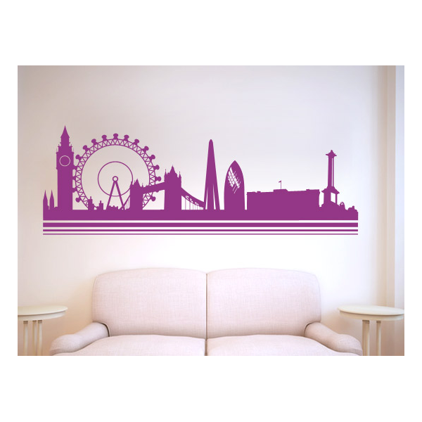 Decoraciones de paredes con vinilos de ciudades europeas for Vinilos pared ciudades