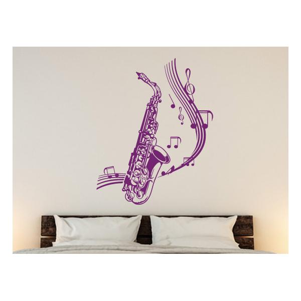 Decoraci N Musical Con Vinilo Decorativo Saxof N