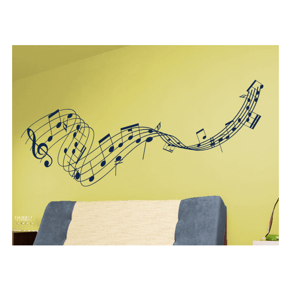 Music notes wall decals and stickers
