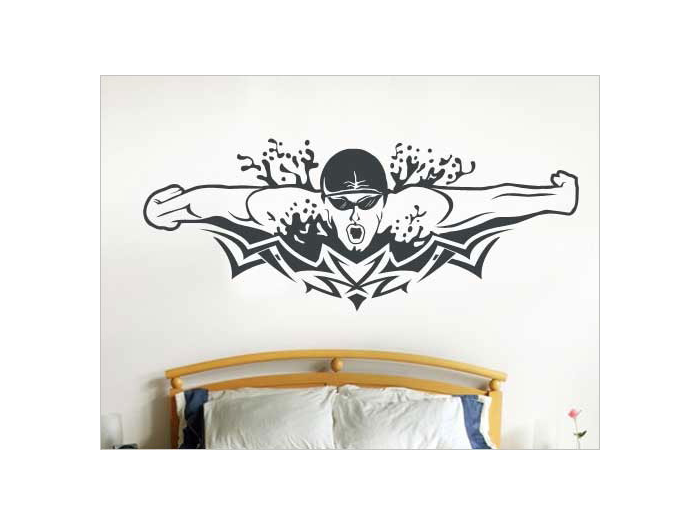 Vinyl sports decorations for walls for Home decor s13 9ad