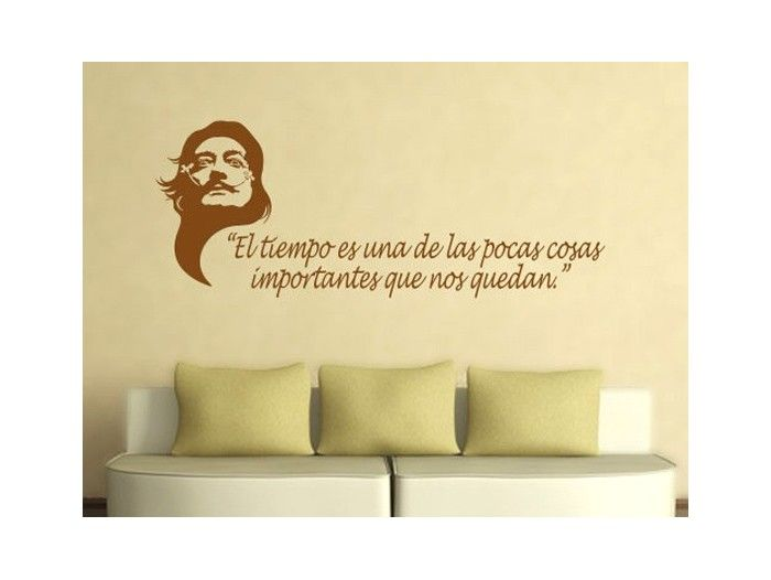 Frases famosas en vinilo salvador dal - Pegatinas pared frases ...