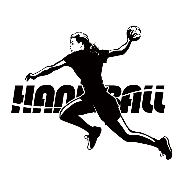 Female Handball Wall Decals Sports Stickers
