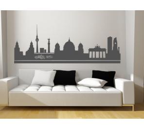 Vinilos decorativos de dormitorios ciudades for Vinilos pared ciudades