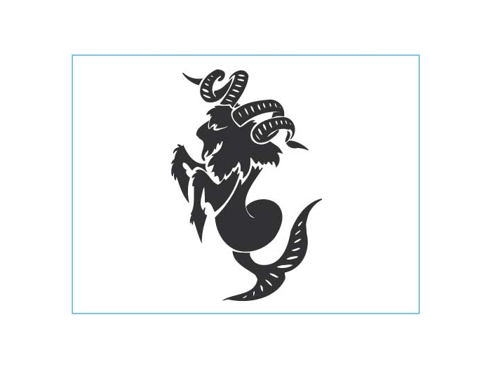 Capricorn Vinyl Car Decal Sticker Astrology Horoscope sign Zodiac symbolic