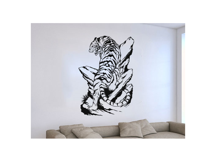 Pegatinas de pared con animales stickers tigres for Stickers decorativos
