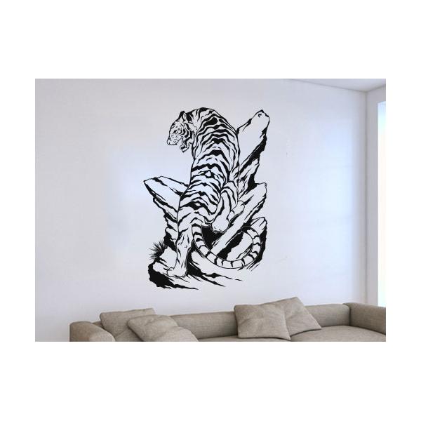 Pegatinas de pared con animales stickers tigres for Stickers decorativos de pared