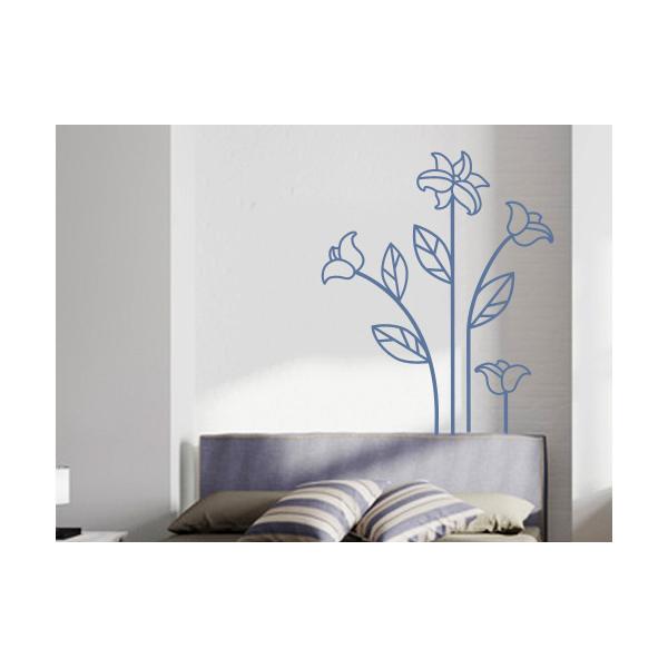 Vinilos florales para dormitorios stickers decorativos - Stickers decorativos para dormitorios ...