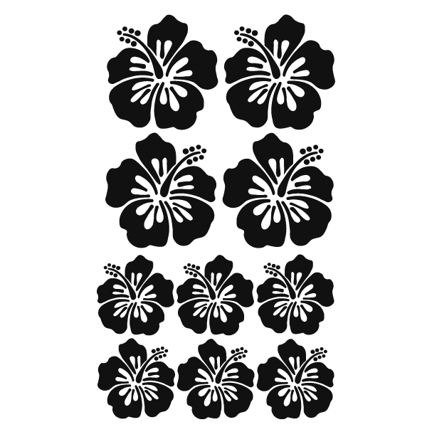 Floral Wall Decals And Flower Stickers Hibiscus 01